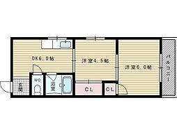 矢森第3マンション[3階]の間取り