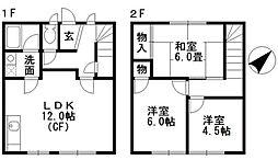 [テラスハウス] 神奈川県藤沢市辻堂太平台1丁目 の賃貸【/】の間取り