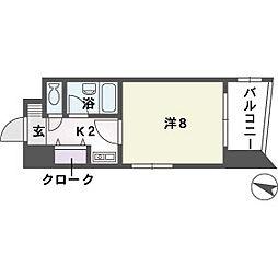 ソレアード赤坂[2階]の間取り