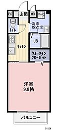 JR東海道新幹線 岐阜羽島駅 徒歩33分の賃貸アパート 2階1Kの間取り