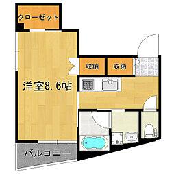 東京都北区田端2丁目の賃貸マンションの間取り