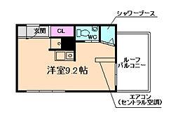 メガロコープ福島[13階]の間取り