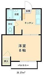 ルーセントハウス[203号室]の間取り