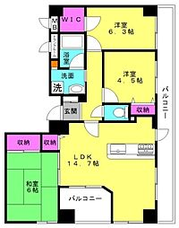 リベール東加古川壱番館[306号室]の間取り