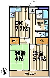 湘南KIM・21[202号室]の間取り