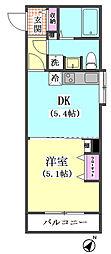 シャルム武蔵小山[9階]の間取り
