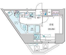 GENOVIA渋谷笹塚skygarden 13階1Kの間取り