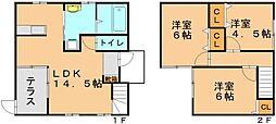 [タウンハウス] 福岡県福岡市東区青葉7丁目 の賃貸【/】の間取り