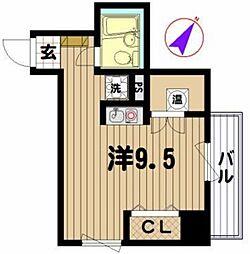 シャトレーイン横浜[807号室]の間取り