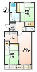 サンハイツ大豊[1階]の間取り
