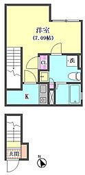 仮)大田区東矢口3丁目1410新築アパート[201号室]の間取り