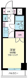 東京都世田谷区駒沢4丁目の賃貸マンションの間取り