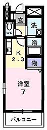 愛知県豊田市御船町鳥坂根の賃貸アパートの間取り