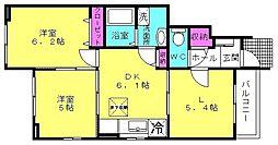 サニーハウス[101号室]の間取り