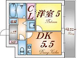 フルール妙法寺[3階]の間取り
