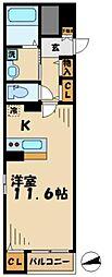 京王相模原線 京王堀之内駅 徒歩12分の賃貸マンション 1階1Kの間取り