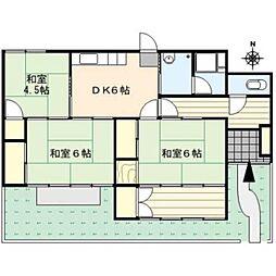 [一戸建] 福岡県久留米市野中町 の賃貸【/】の間取り