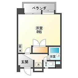 愛知県豊橋市新栄町字南小向の賃貸マンションの間取り