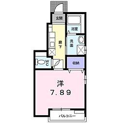 愛知県愛知郡東郷町大字春木字屋敷の賃貸アパートの間取り
