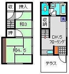 [テラスハウス] 神奈川県横浜市西区久保町 の賃貸【/】の間取り