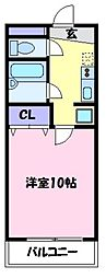 コーポ大美野[2階]の間取り