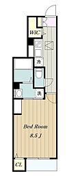 小田急小田原線 本厚木駅 バス29分 桜台下車 徒歩5分の賃貸アパート 1階1Kの間取り