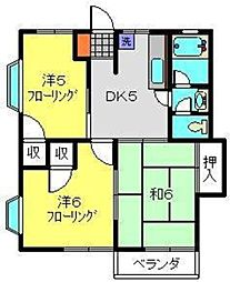 ハイムケンショウ5[2階]の間取り