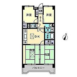 新栄アンピール筑紫通り[703号室]の間取り