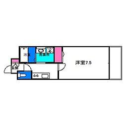 Osaka Metro谷町線 千林大宮駅 徒歩2分の賃貸マンション 5階1Kの間取り