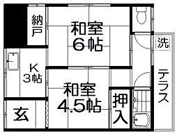 [テラスハウス] 大阪府寝屋川市田井町 の賃貸【/】の間取り
