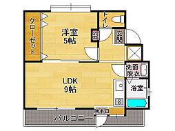 白石第2アパート[2階]の間取り