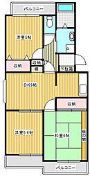 神奈川県川崎市宮前区平6丁目の賃貸マンションの間取り