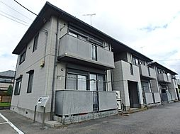 栃木県真岡市台町の賃貸アパートの外観