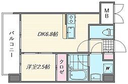 ラ・エスパシオ箱崎[602号室]の間取り