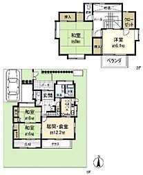 [一戸建] 福岡県福岡市東区香椎3丁目 の賃貸【/】の間取り