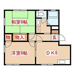 PEARメゾンドールD棟[2階]の間取り