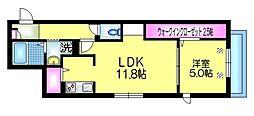 仮称 東駒形2丁目メゾン 2階1LDKの間取り