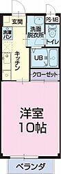 JR東海道本線 金谷駅 11.3kmの賃貸アパート 2階1Kの間取り