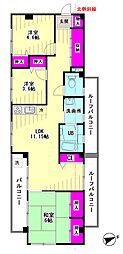 羽田637マンション[301号室]の間取り