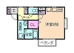 大阪府豊中市庄内栄町1丁目の賃貸アパートの間取り