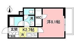 中央林間6丁目ホテルライクマンション(仮) 1階1Kの間取り