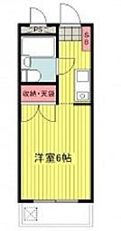 東京都立川市錦町5の賃貸マンションの間取り