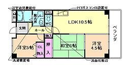 ラ・メール鉢塚[2階]の間取り