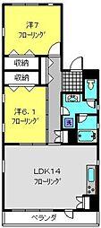神奈川県横浜市南区堀ノ内町1丁目の賃貸マンションの間取り
