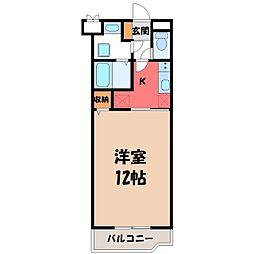 栃木県宇都宮市雀の宮1丁目の賃貸マンションの間取り