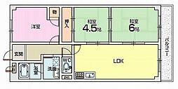 グリーンルーフコート[3階]の間取り