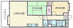 リファレンス箱崎[3階]の間取り