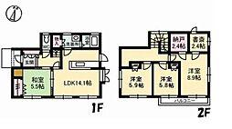 [一戸建] 岡山県倉敷市西阿知町 の賃貸【/】の間取り