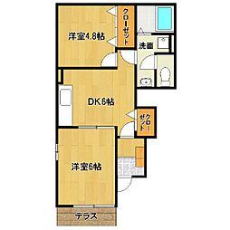 JY TOWN D[1階]の間取り