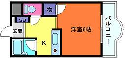 カサイマンション[3階]の間取り